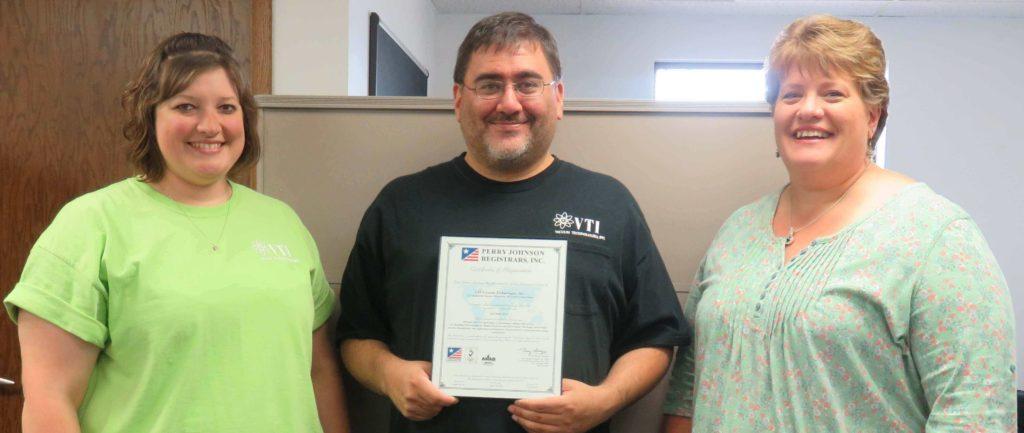 VTI ISO9001:2015 Certification